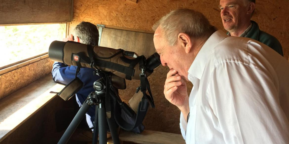 Keith Taylor MEP bird watching at the Rye Harbour Nature Reserve