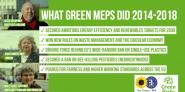 Twitter sharepic listing some Green MEP successes