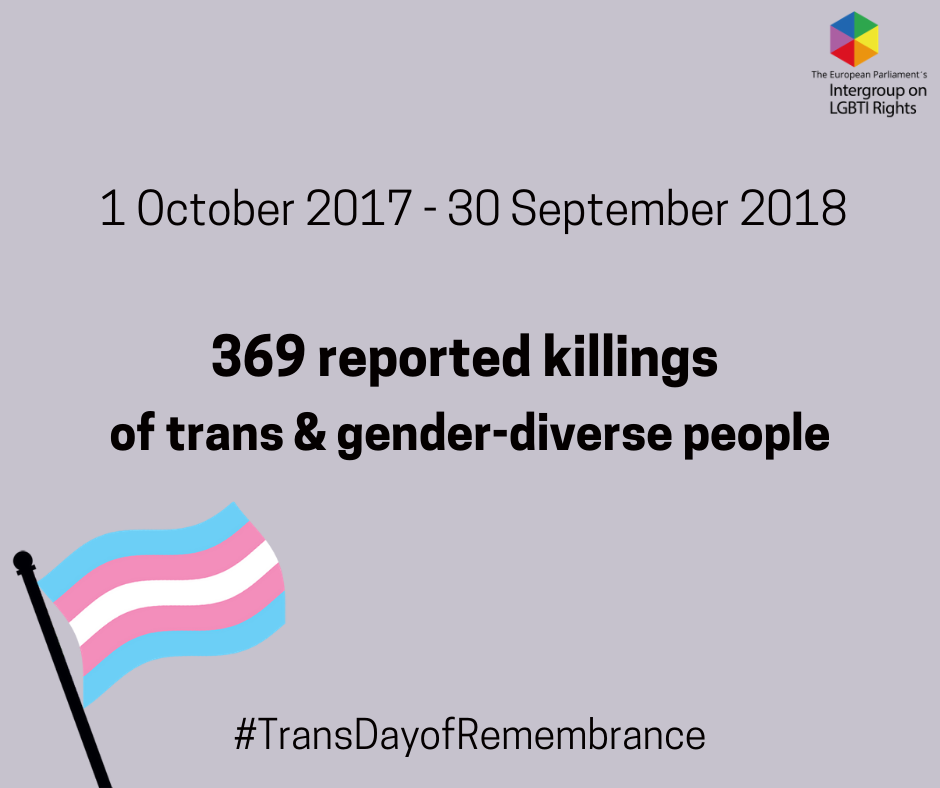 Today we commemorate the 369 (known) victims of transphobic violence in the past year.