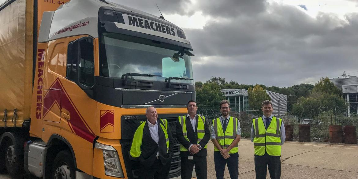Keith Taylor MEP and others at the Southampton Sustainable Distribution Centre operated by Meachers Global Logistics on Maurentania Road