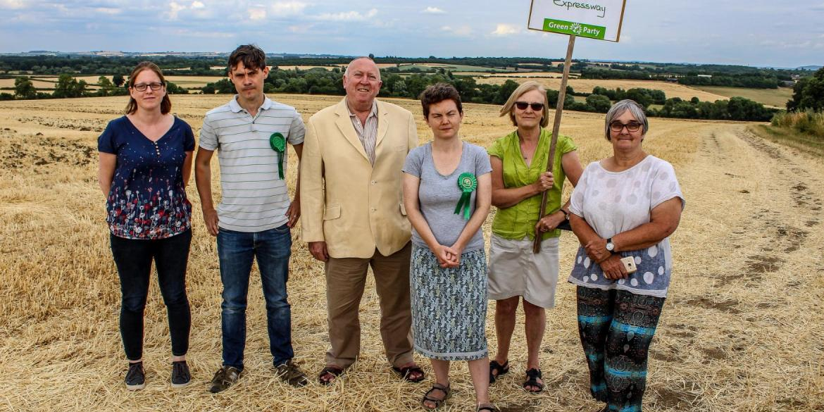 Keith Taylor MEP leads an Oxford Expressway protest in Oxfordshire