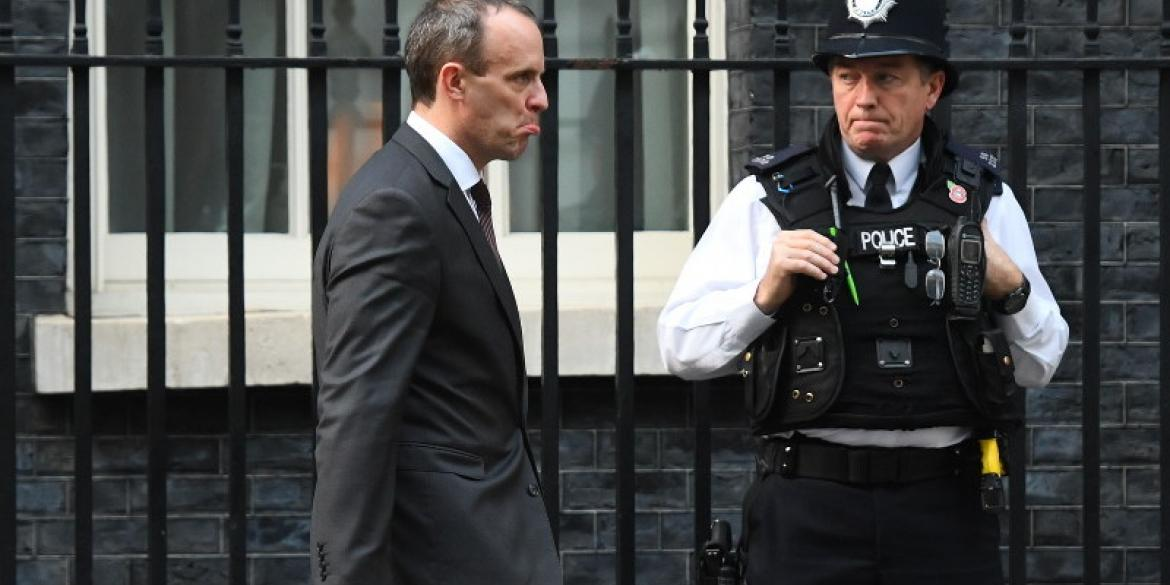 Dominic Raab looks glum | Victoria Jones PA