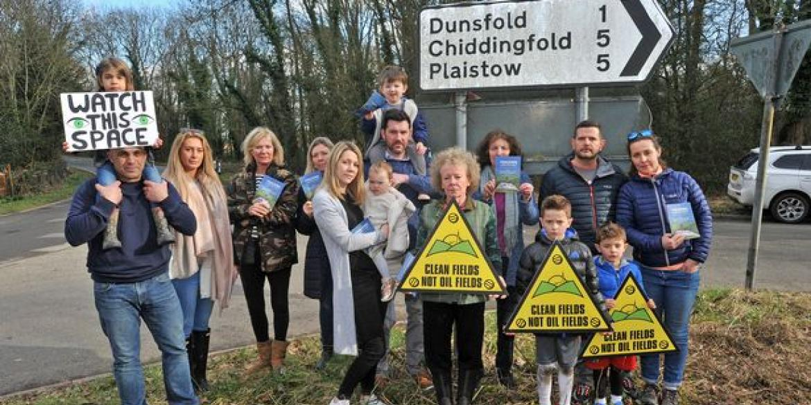 Concerned residents and campaigners in Dunsfold (Image: Surrey Advertiser)