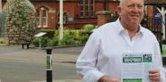Keith Taylor MEP distributing his air pollution report in Alton, Hampshire