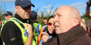 Keith Taylor MEP at the proposed Kirby Misperton fracking site in North Yorkshire